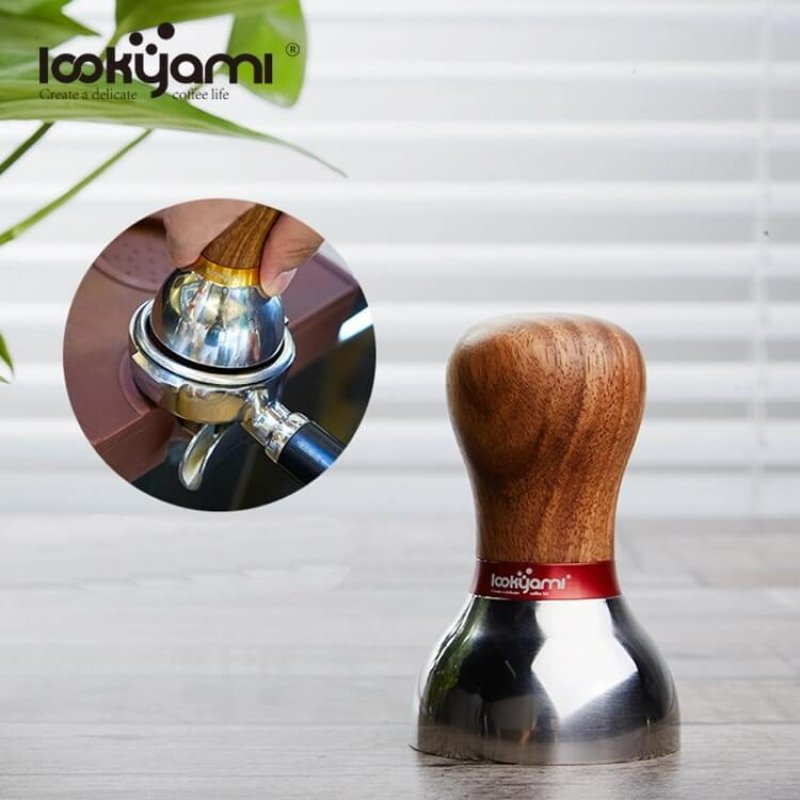 Replaceable Colors Wooden Coffee Tamper with Gift Box