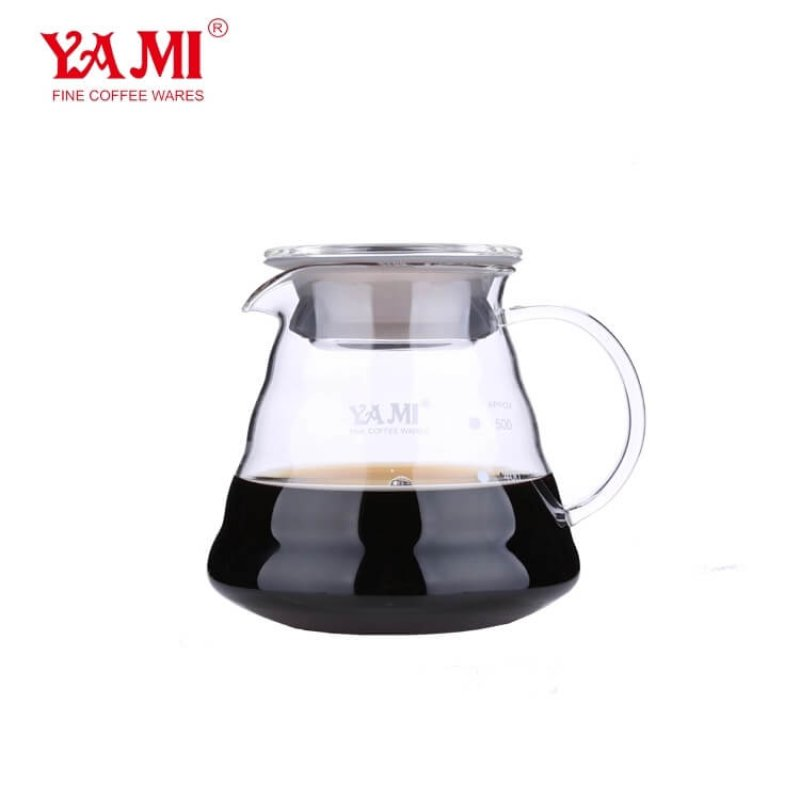 2019 New Style Wholesale Yami Glass Water Jug for Drip Coffee