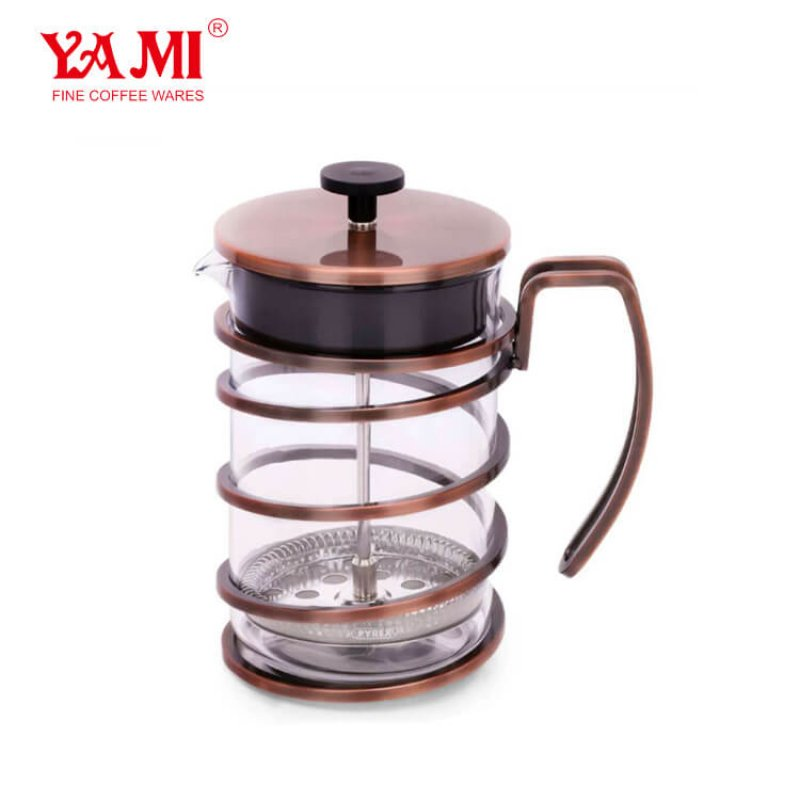 2019 Kitchenware 800cc Glass Stainless Steel French PressPortable French Press Coffee Maker