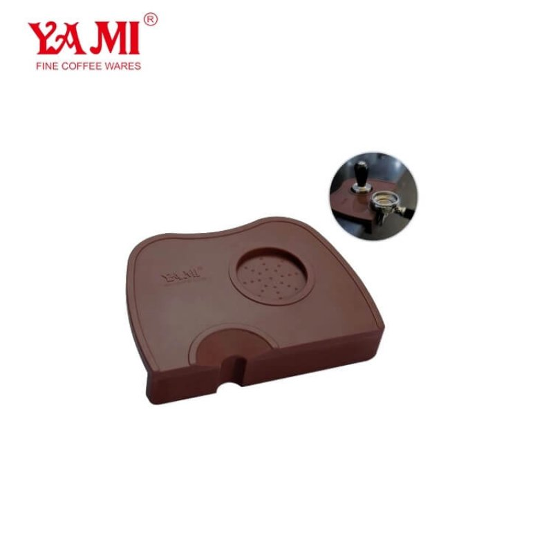Food Grade Silicone Soft Durable Espresso Coffee CornerTamping Mat. Custom Logo Coffee Tamper Pad
