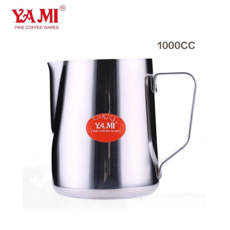 Customized Stainless Steel Coffee Milk PitcherJug OEM Stainless Steel 1000cc Milk Pitcher for Espresso Coffee
