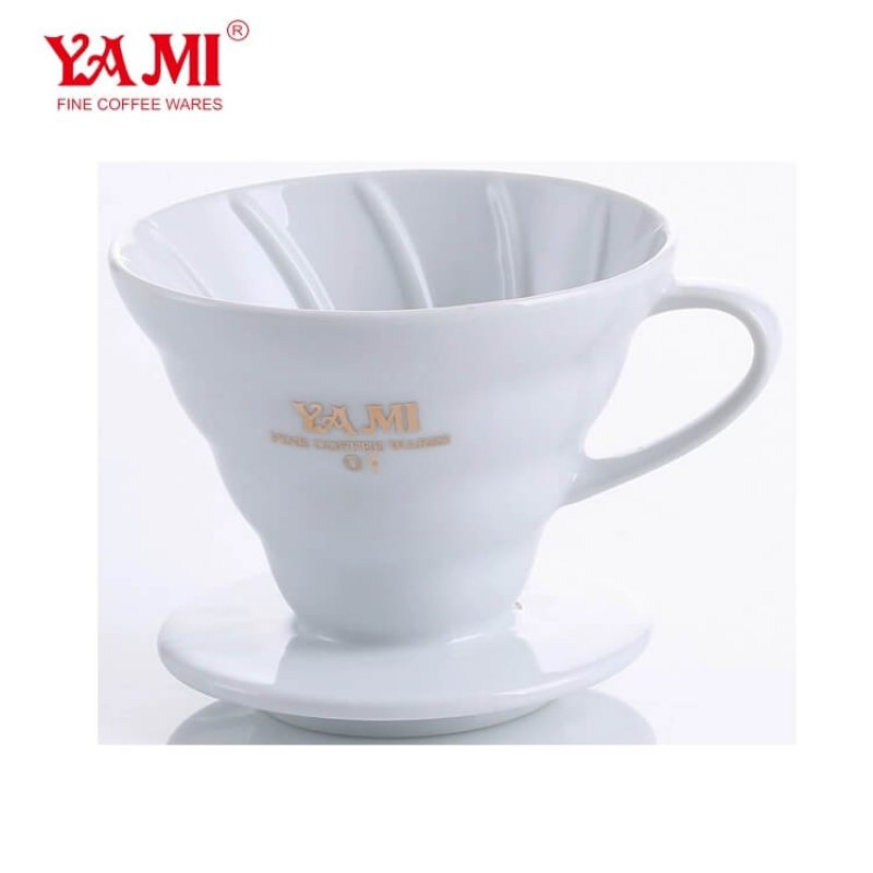 Hot sale ! Yami 2-4Cups High-Quality Ceramic Coffee Dripper, Pour Over Porcelain Home Brew Dripper