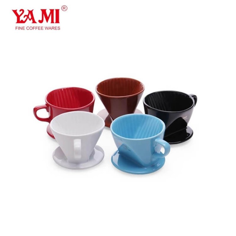 Home Ceramic Coffee Drip Sector Tea Strainer Porcelain Coffee Dripper For 1-2 Cups