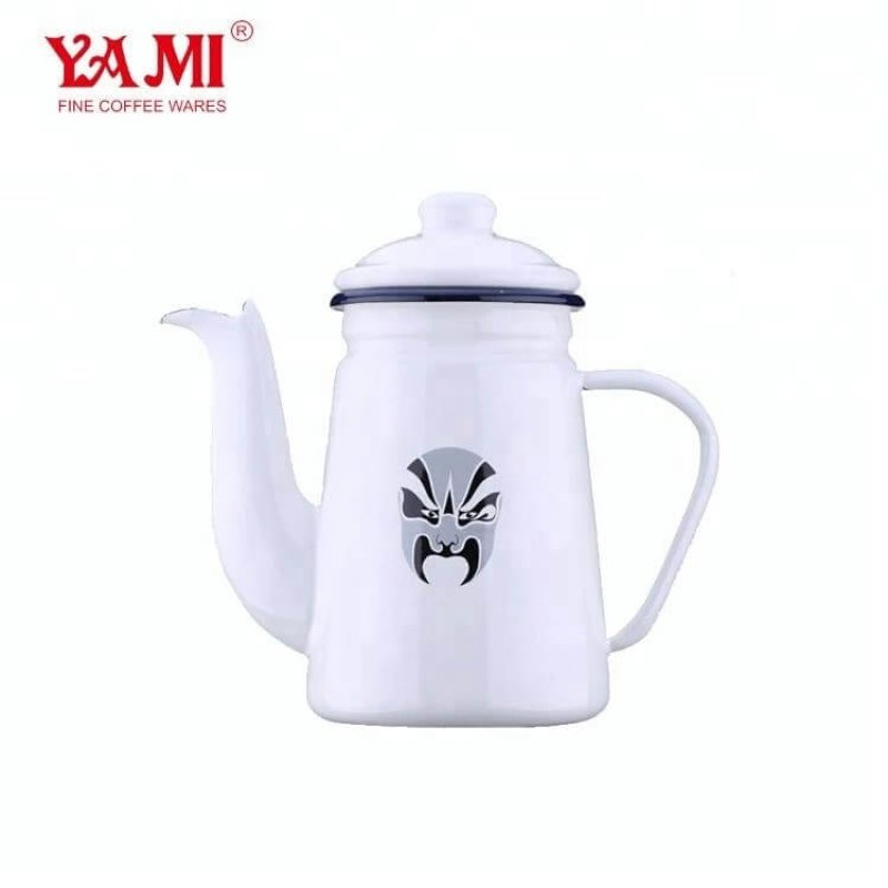 Chinese Traditional Style Enamel Drip KettleCoffee and Tea Pot