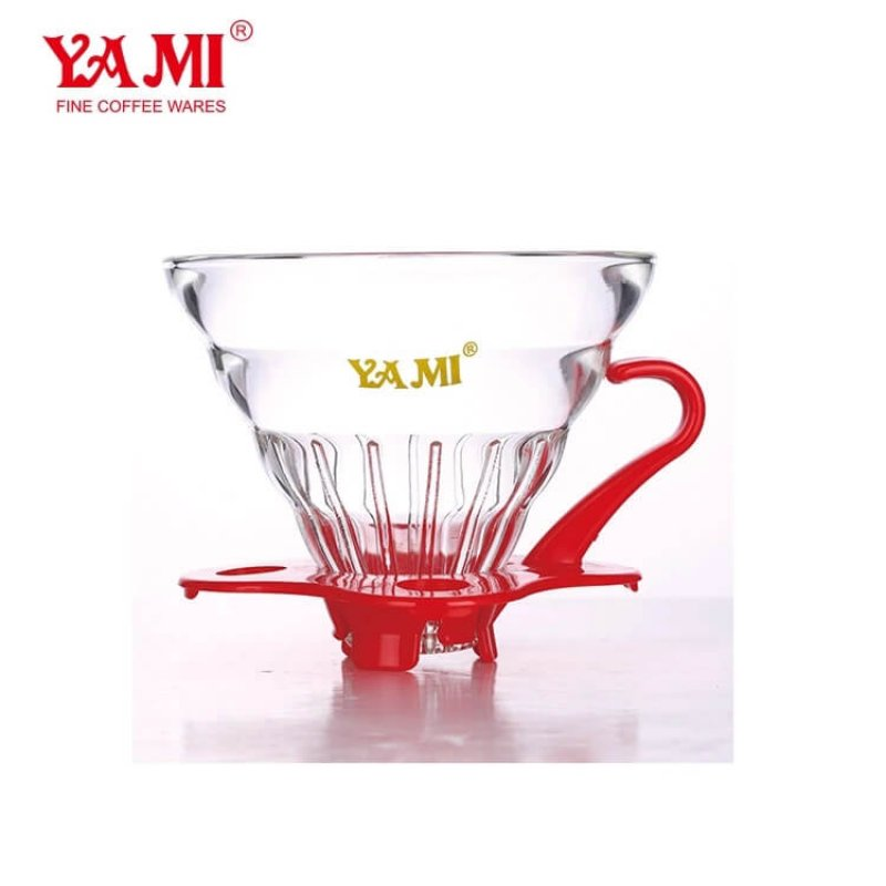 High Quality Heat Resistance Glass Coffee Dripper, Pour Over Porcelain Home Brew Dripper